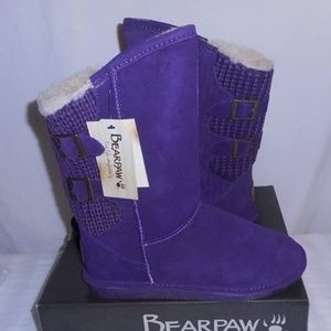 Bearpaw Women's Boshie Boots Purple Size 9M New